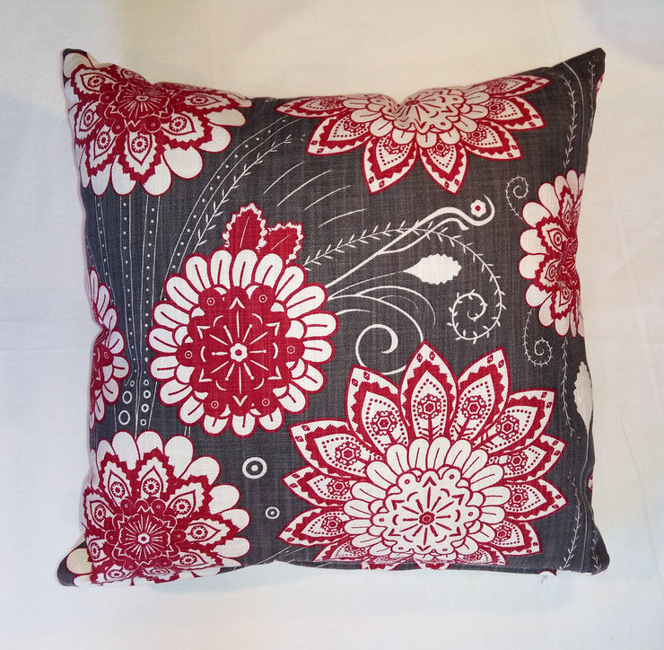 Buitengracht flower pattern scatter cushion cover by Quagga Fabrics and Wallpapers
