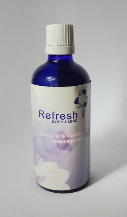 Lavender and Vanilla Massage Oil by Refresh Body and Mind