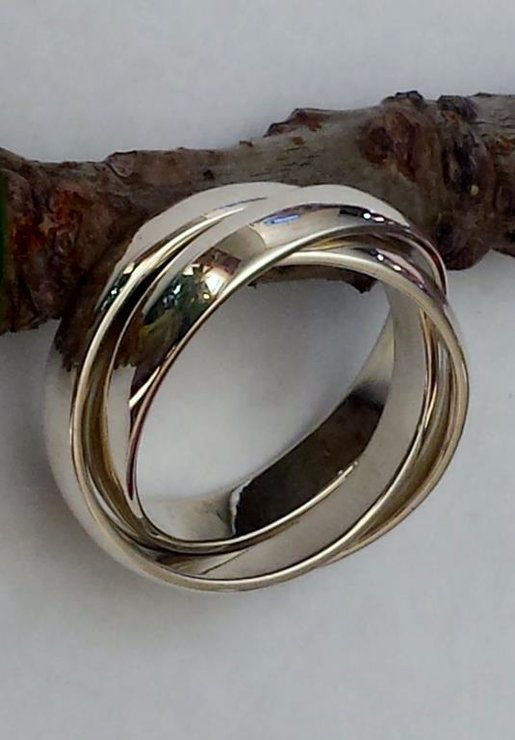 sterling silver russian wedding ring rolling ring by afrilique design - Russian Wedding Ring