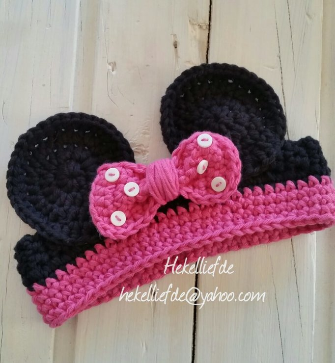 MICKEY MOUSE HEADBAND  by Hekelliefde
