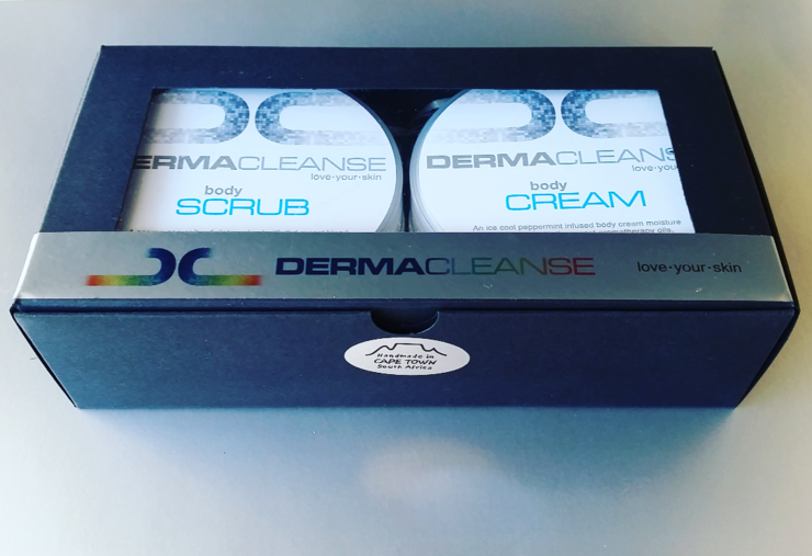 Dermacleanse PEPPERMINT & GRAPEFRUIT  body scrub & cream boxed duo. by DERMACLEANSE