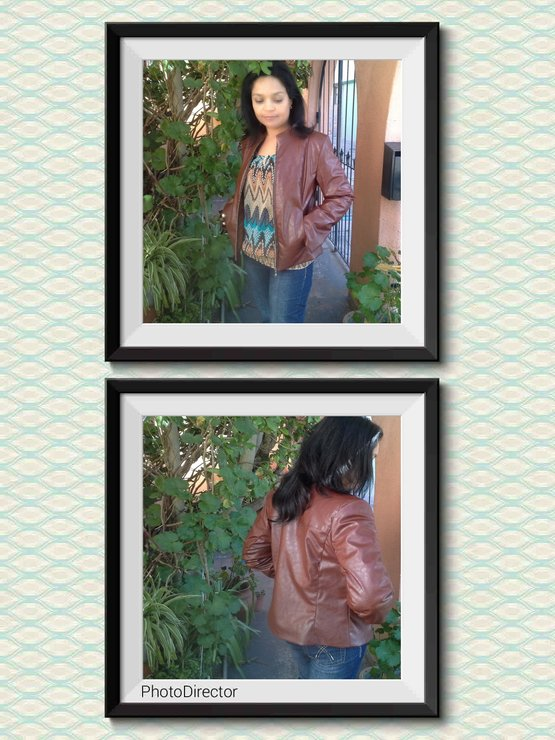 Pleather Jacket  by Landi's Exclusive Garments