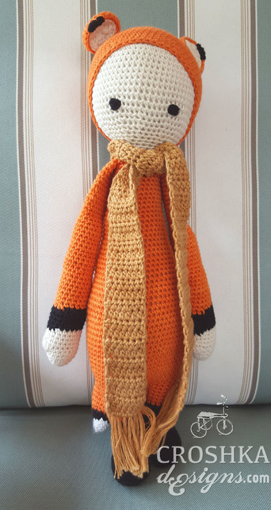 Fibi the Fox handmade crochet doll - Made to order by Croshka Designs