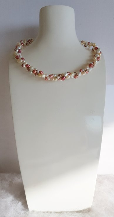 products pink handcrafted copy necklace crystal wired stunning