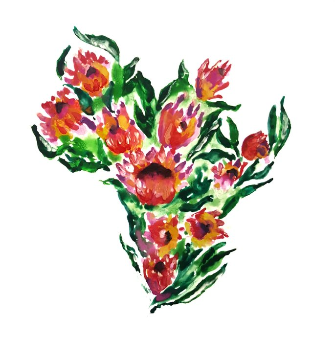 Africa in Proteas by The Pencil Project  by Meghan Maconochie