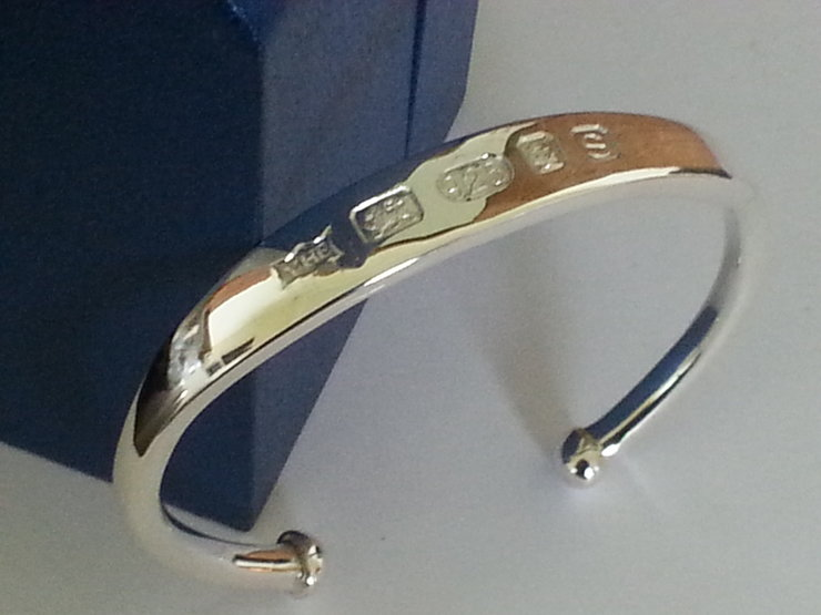 "The ""2 Troy Oz"" Fully hallmarked extra Large gents Torque Bangle, made entirely by hand by www.hallmarkinternational.co.za"