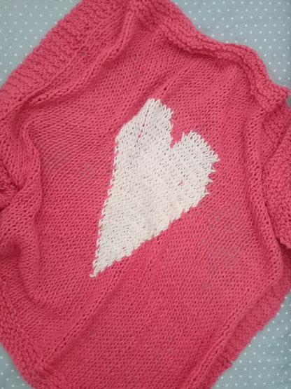 Pink and White Heart Baby Blanket by Pink Milk