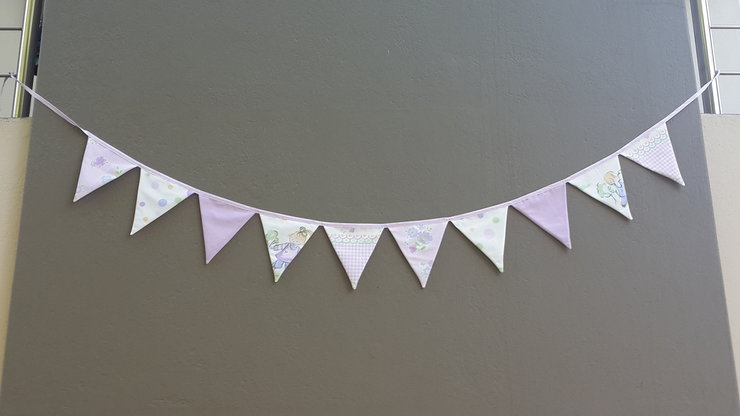 Bunting flags purple theme by Imagine Creations