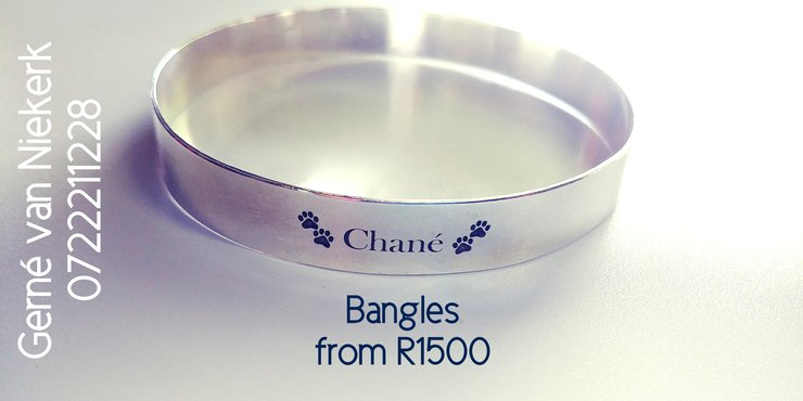 Name Bangles by FiliG Handmade Silver Jewellery