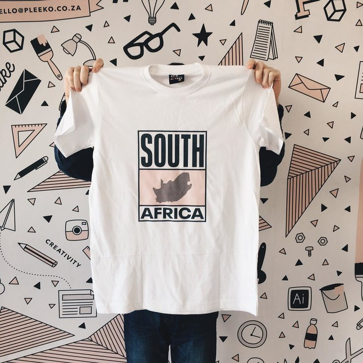 South Africa (Pink) T-Shirt by Pleekō
