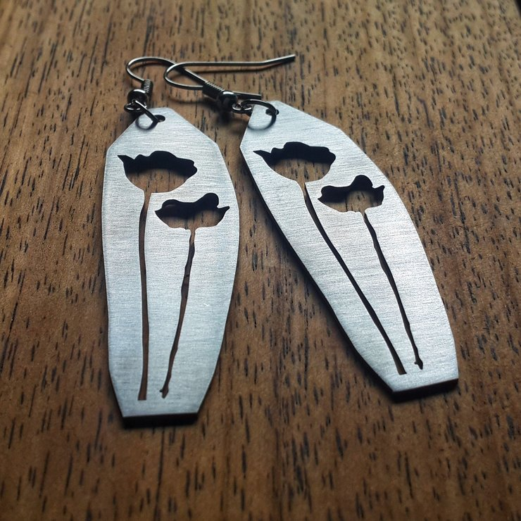 Poppy cut-out earrings