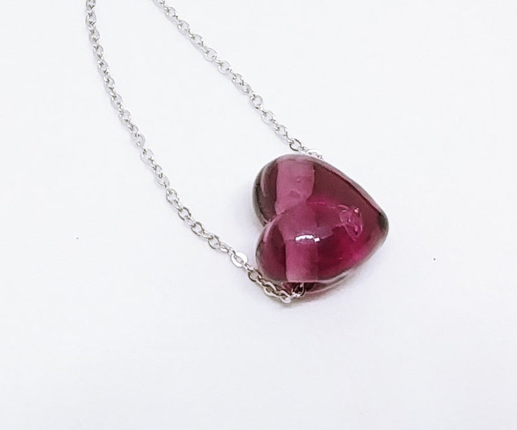 Purple Heart with a Glitter by Honeydog Designs