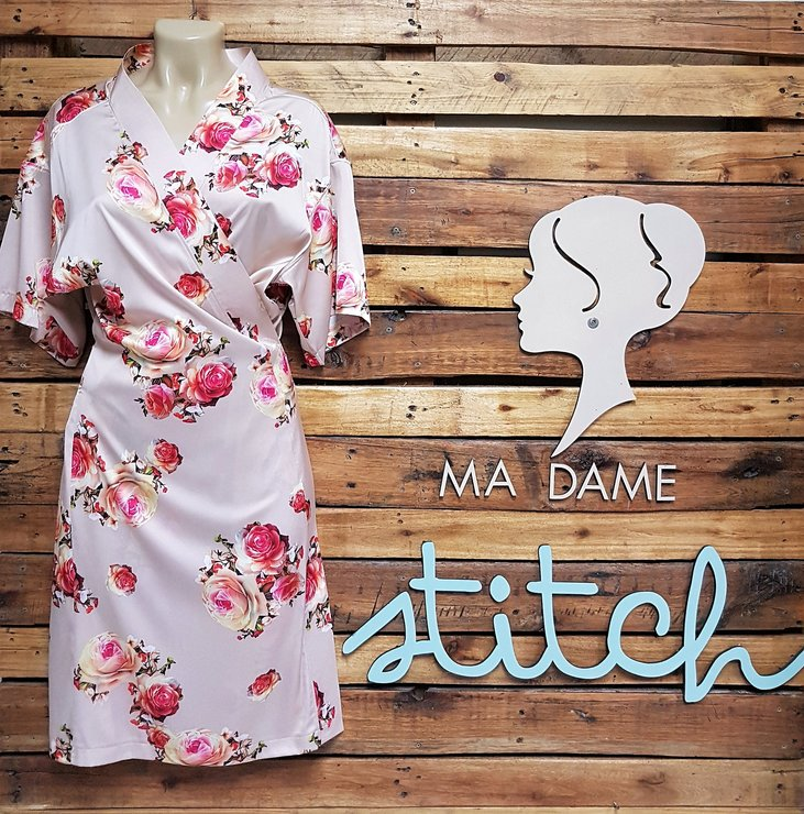 Printed Satin  by Ma Dame Stitch