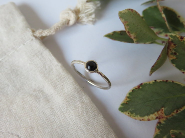 Onyx Silver Ring by MD Jewellery Design