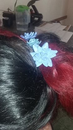 Various hair flower boby pins by Dominic's creations