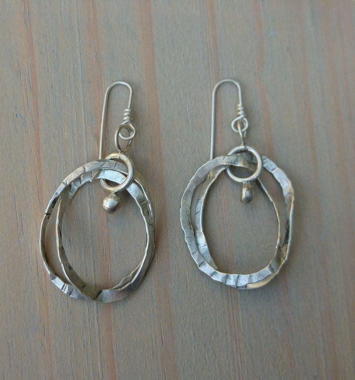 Double Hoop Sterling Silver Earrings by Cecilia Robinson Jewellery