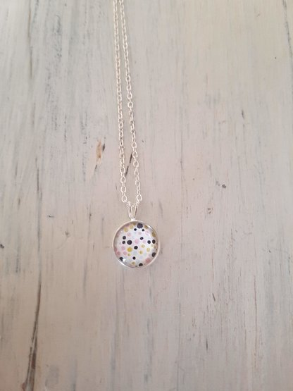 Polka dots in Silver  by JanaS