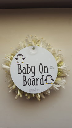 Baby On Board perspex sign- PENGUINS by Laine Laine