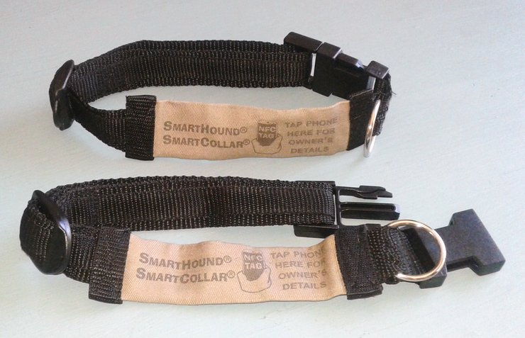 Black & Stone SmartCollar for Medium Dogs by SmartHound