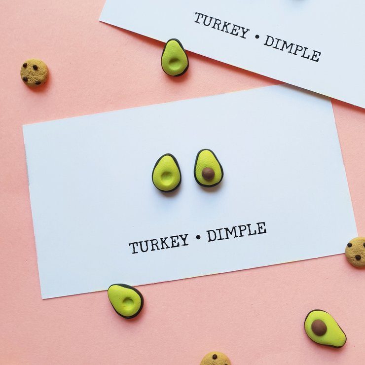 Avo studs by turkey dimple