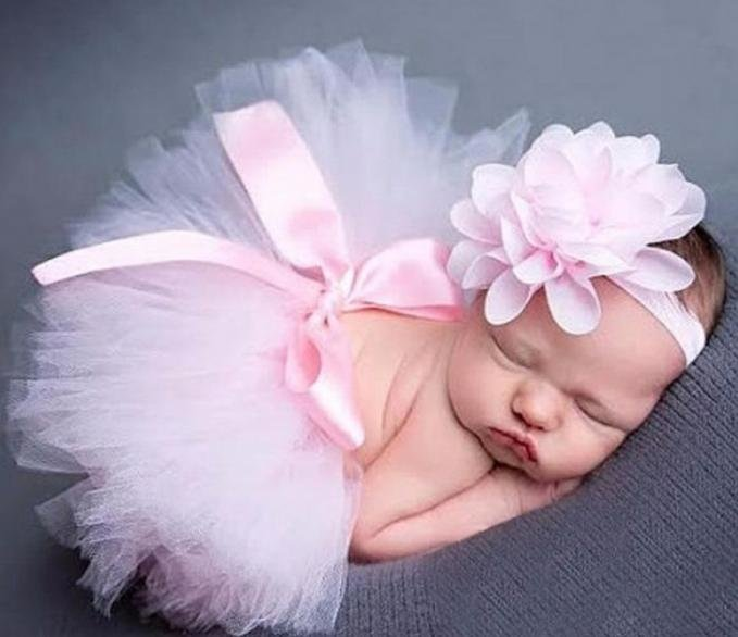 Pink Tutu Baby photo prop by Finesse Studio