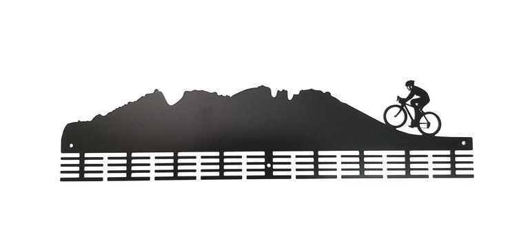 Cycling mountain 72 tier medal hanger in Black by Medal Hanger & Home Décor Specialists - DC Designers