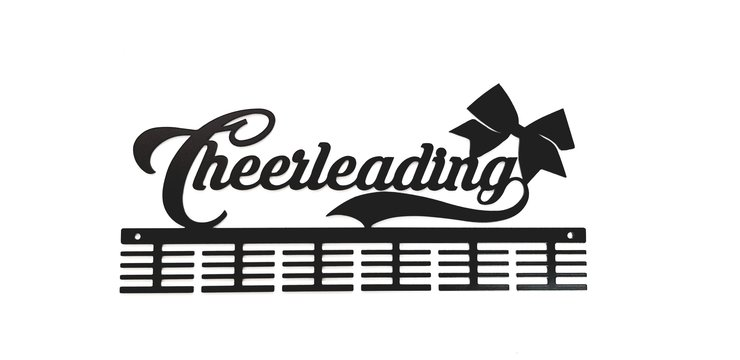 Cheerleading 48 tier medal hanger in Black by Medal Hanger & Home Décor Specialists - DC Designers