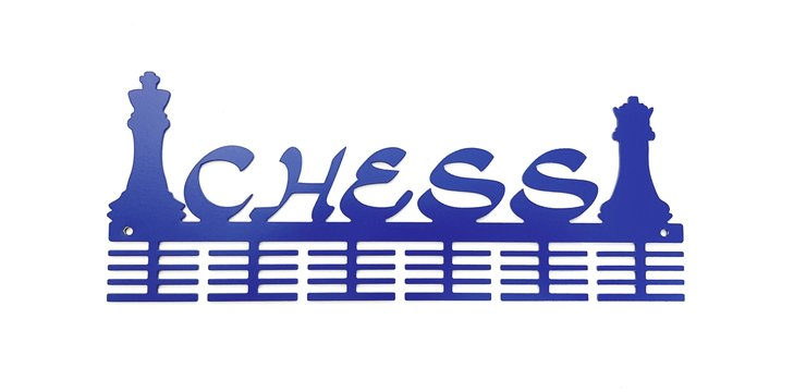 Chess 48 tier medal hanger in Blue by Medal Hanger & Home Décor Specialists - DC Designers