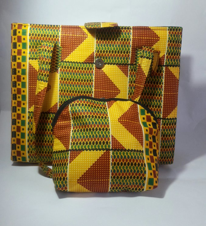 Kente Bag and Pouch Combo by Trendy Native