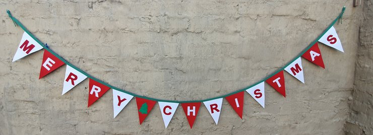 Merry Christmas bunting  by Going Dutch In Sa