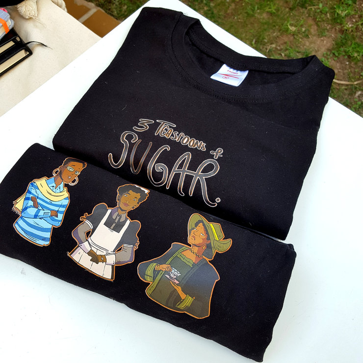 3 Teaspoons of Sugar Character T-Shirt by Cabblow Studios