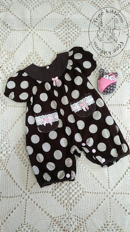 Baby Romper for 3 months baby girl . by Free Kittens