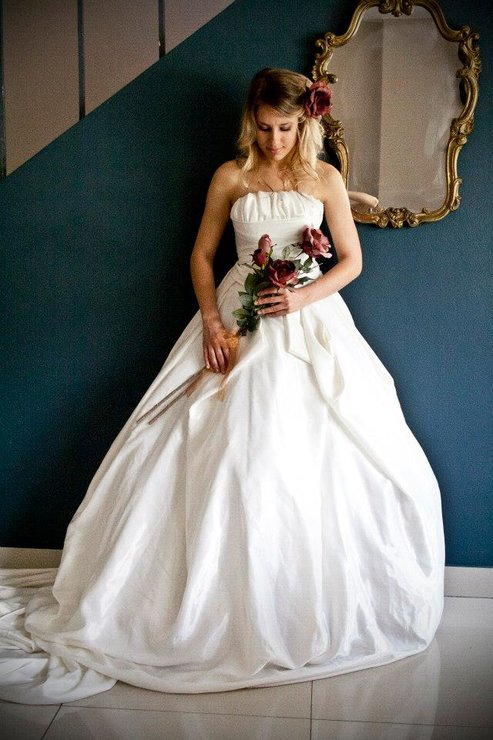 Taffeta Wedding Gown / Wedding dress by Aplomb Couture
