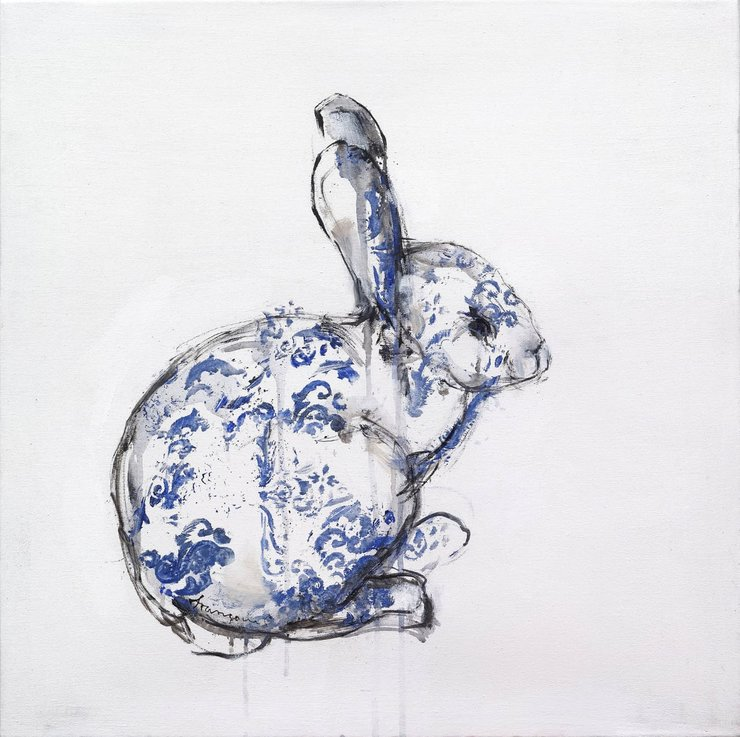 Tea Towel 46 x 70 cm  by Le Lapin Ceramics - South Africa