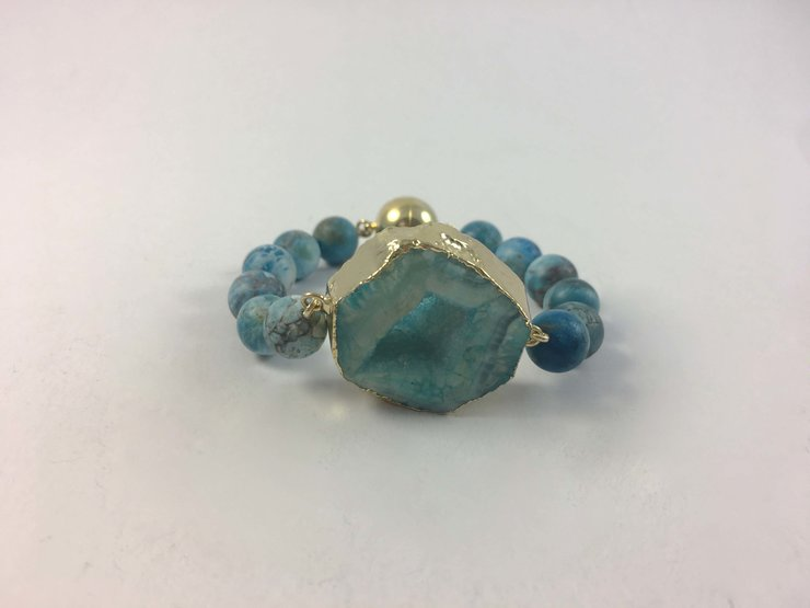 Blue Agate Bracelet by Jade South Africa