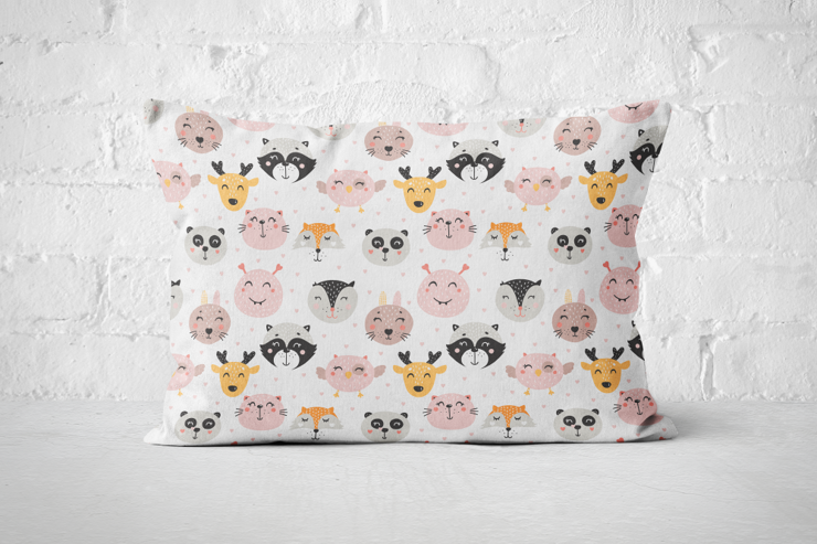 Pink Critters A3 Pillow   by But Why Not