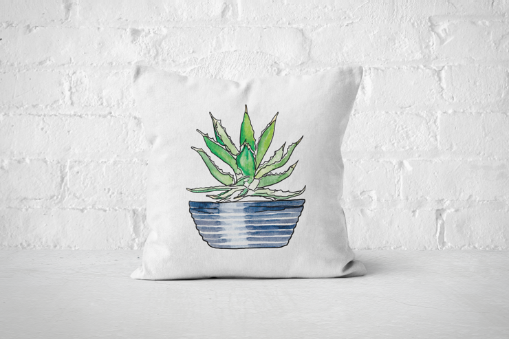 Succulent 1 - Pillow Cover by But Why Not