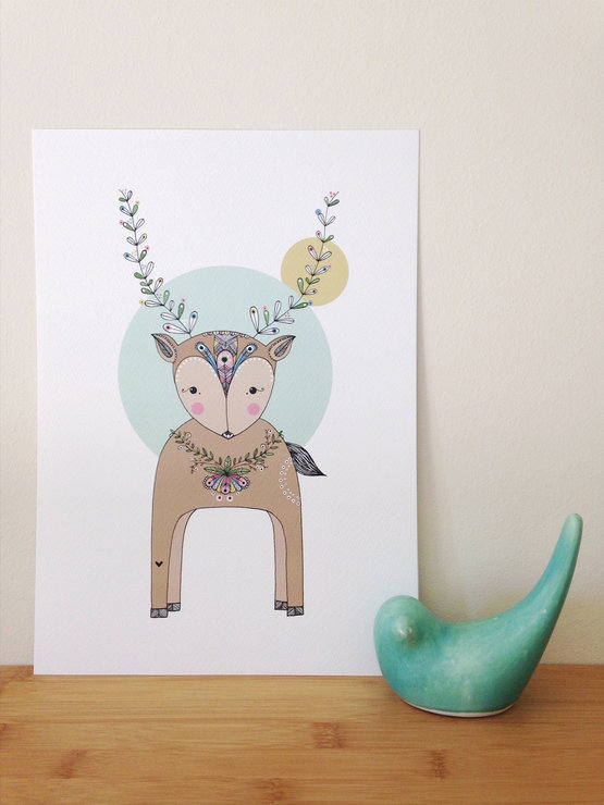 Deer Art-print | A4 by illo