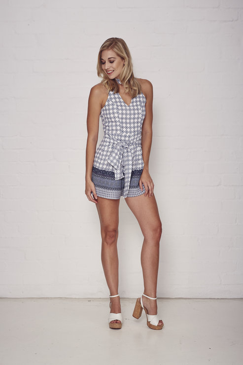 Peace Playsuit by Mieke Ola