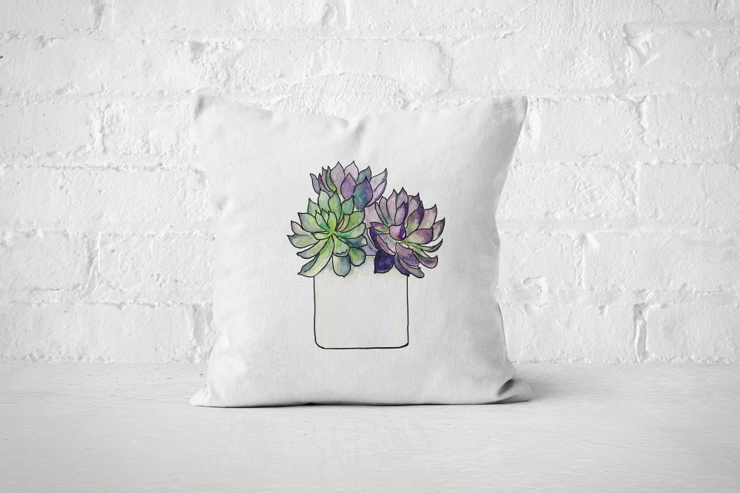 Succulent 5 - Pillow Cover by But Why Not