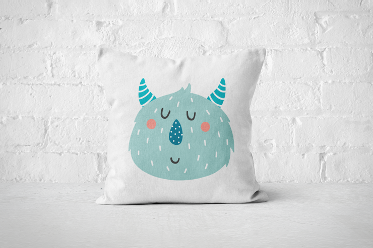 Smiley Critter 2 - Pillow Cover by But Why Not