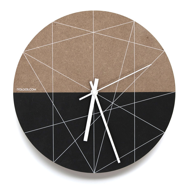 White Lines Wall Clock by TYDLOOS.COM