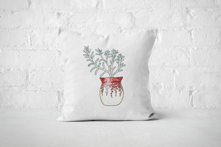 Succulent 6 - Pillow Cover by But Why Not