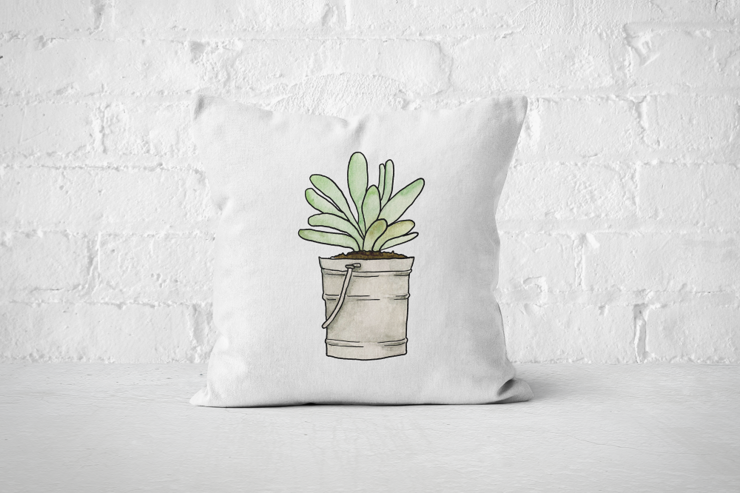 Succulent 7 - Pillow Cover by But Why Not