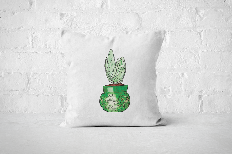 Succulent 8 - Pillow Cover by But Why Not