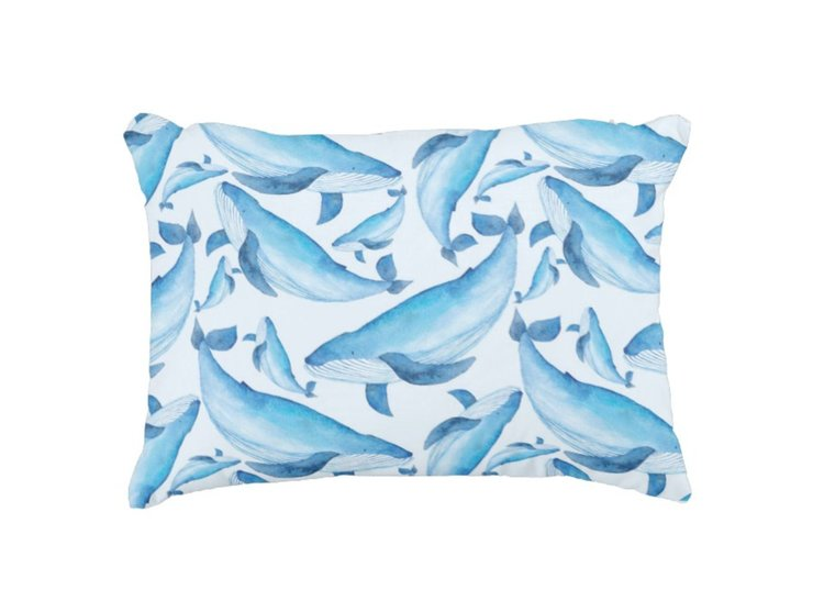 Whales Scatter Cushion by But Why Not
