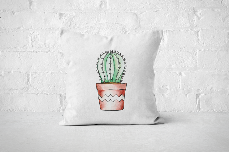 Succulent 10 - Pillow Cover by But Why Not