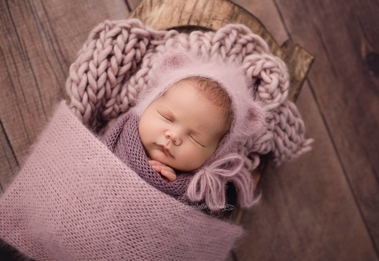 Merino mini blanket  by Lavender Blossoms Props