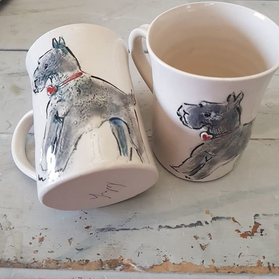Schnauzer coffee Mugs  by Le Lapin Ceramics - South Africa