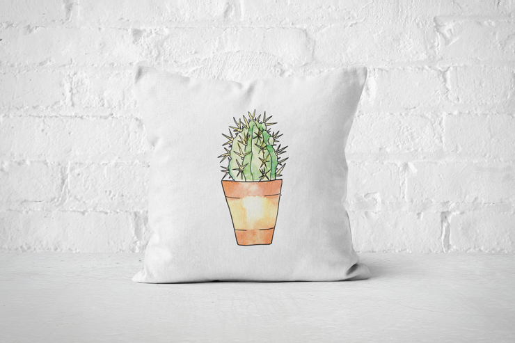 Succulent 15 - Pillow Cover by But Why Not